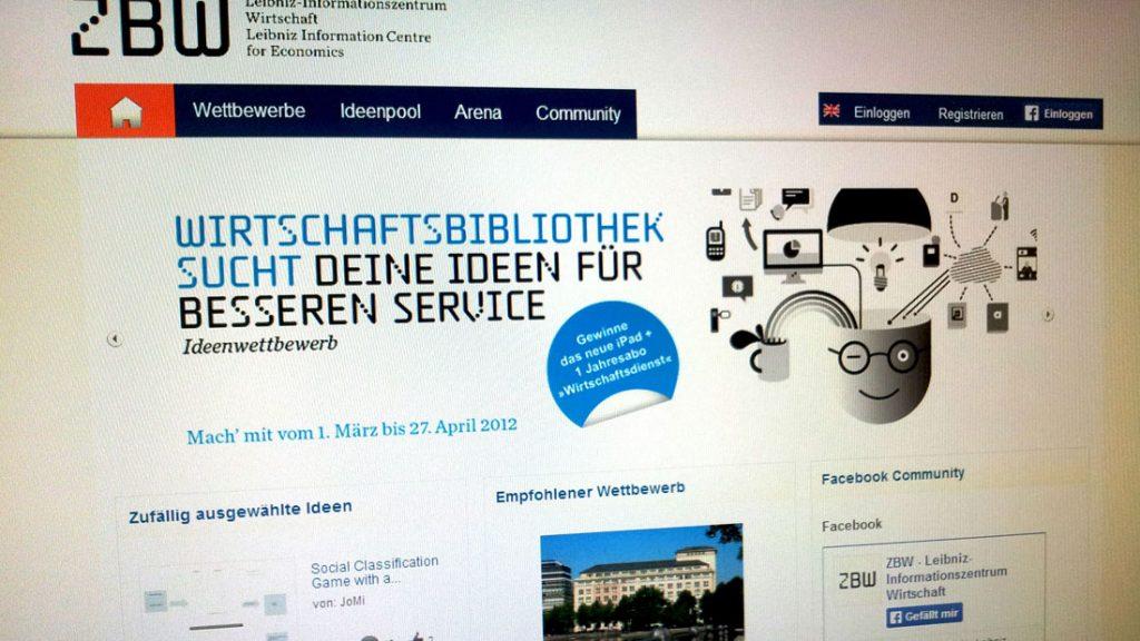 Zbw startet ideenwettbewerb ideen f r noch besseren service gesucht zbw mediatalk for Nc wirtschaftswissenschaften